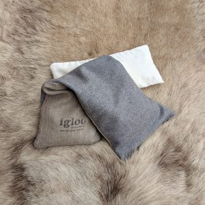 Meditation grey wool & off white velvet set