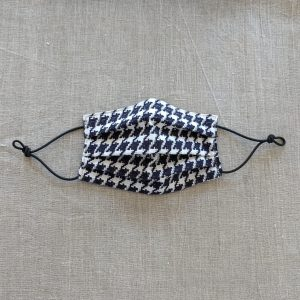 Mask Blue and White Houndstooth