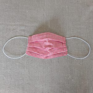 Mask Red and white gingham
