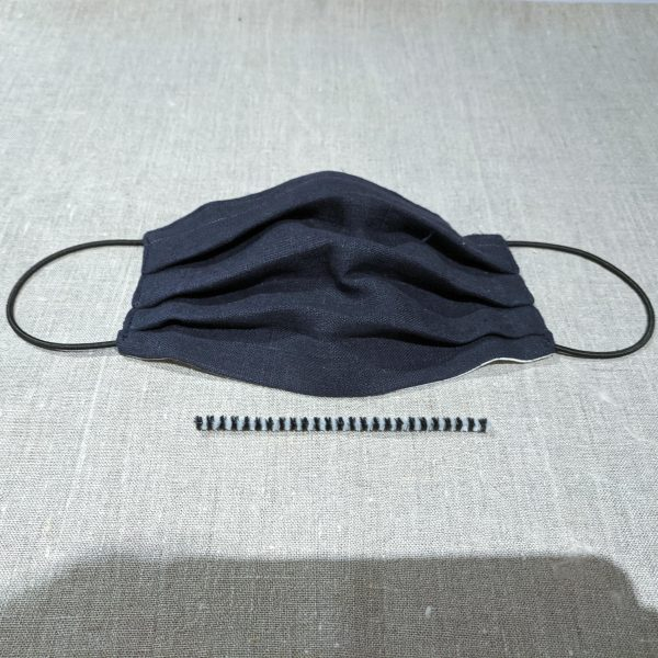 Mask French Navy Linen