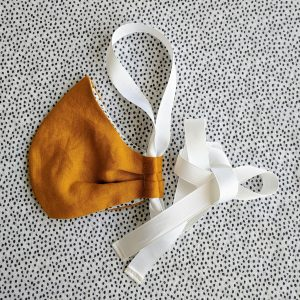 igloo summer mask mustard with white ribbon